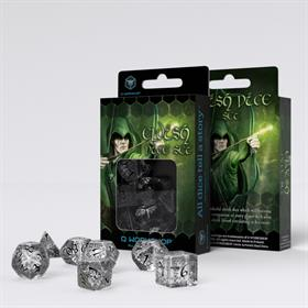 ELVEN TRANSLUCENT /BLACK DICE SET
