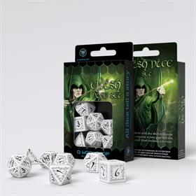 ELVEN WHITE/BLACK DICE SET