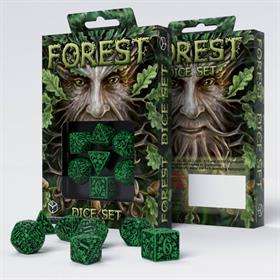 FOREST GREEN/BLACK DICE SET