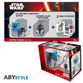Star Wars - Pck Mug320ml + Keyringpvc + Sticker r2d2 *
