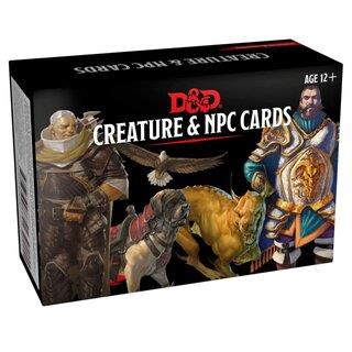 D&D MONSTER CARDS - NPCS & CREATURES (182 CARDS) - EN