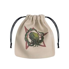 Q-WORKSHOP CALL OF CTHULHU BEIGE & MULTICOLOR DICE BAG