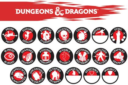 GAMING AIDS- D&D CHARACTER TOKEN SET