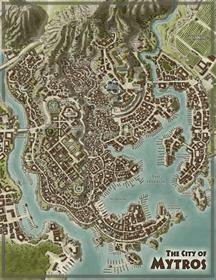 ODISSEY OF THE DRAGON LORDS - DOUBLE SIDED MAPS OF THYLEA & MYTROS