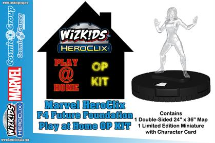 MARVEL HEROCLIX F4 FUTURE FOUNDATION PLAY AT HOME OP KIT